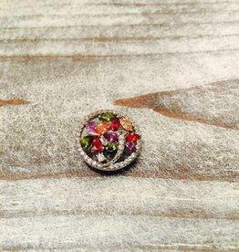 Snap Button Jewels™ | rhinestone | multi-color | multi gem and rhinestone