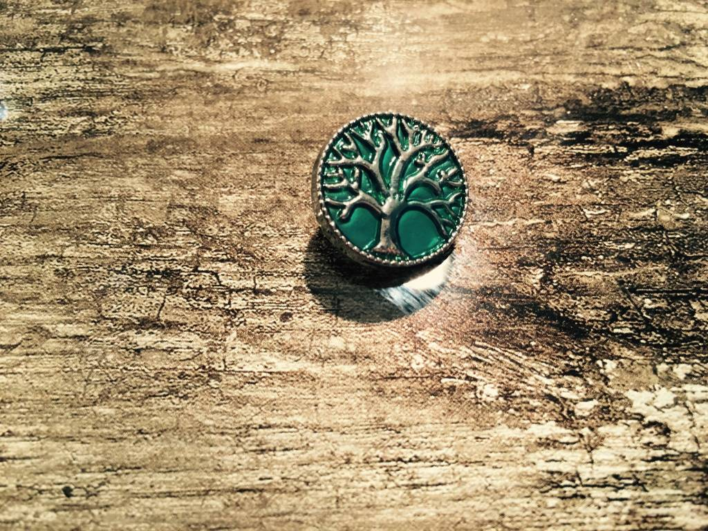 Snap Button Jewels™ | Fashion| Green | Tree of Life