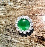Snap Button Jewels™   Rhinestone   Green   Pearlized Snap Circle
