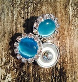 Snap Button Jewels™ | Rhinestone | Sea Blue | Pearlized Snap Circle