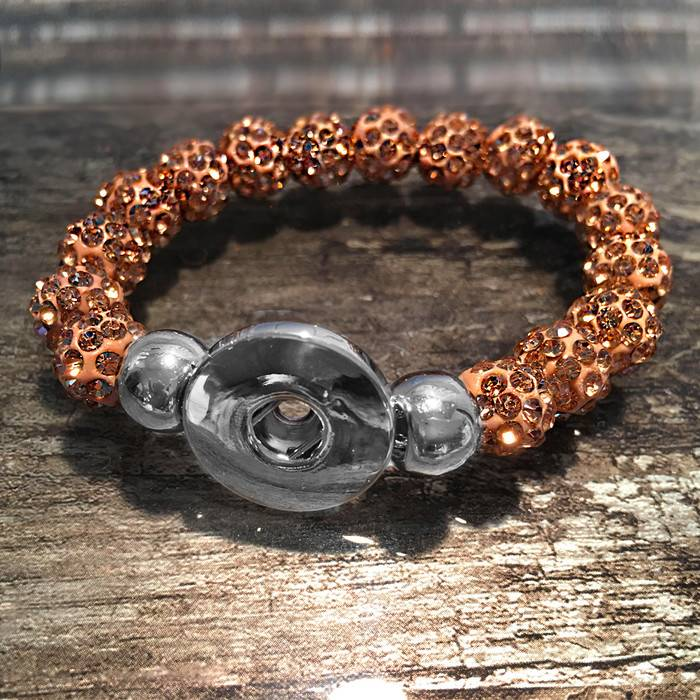 Bracelet | Rose Gold | Sparkle Beaded | 1 Snap
