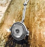 Bracelet | Silver | Textured Slider Bracelet Rope Style Bezel | 1 Snap