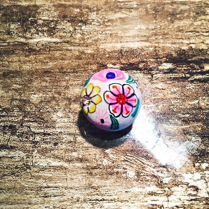 Snap Button Jewels™   Fashion   Multi Color   Hand Drawn Flower Garden