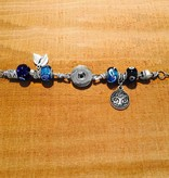 Bracelet | Blue | Pandora Style Tree of Life Charm | 1 Snap