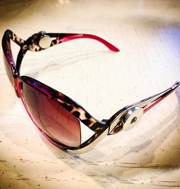 Sunglasses   Hot Pink Leopard and Silver   Snap