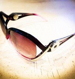 Sunglasses   Silver   Dark Purple Lilac   Snap