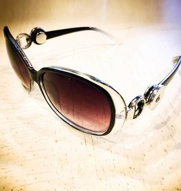 Sunglasses | Black | Clear White | Snap