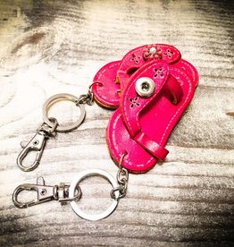 Key Chain | Hot Pink | Leather | 1 Snap