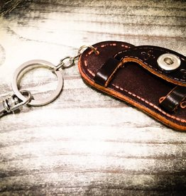 Key Chain | Dark Brown | Leather | 1 Snap