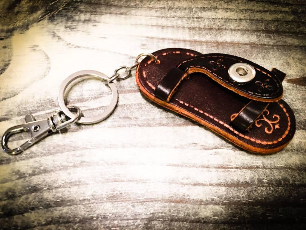 Key Chain | Dark Brown | Leather | 1 Snap