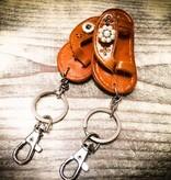 Key Chain | Medium Brown | Leather | 1 Snap