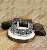 Bracelet | Silver | Braided Bangle | 3 Snap Button