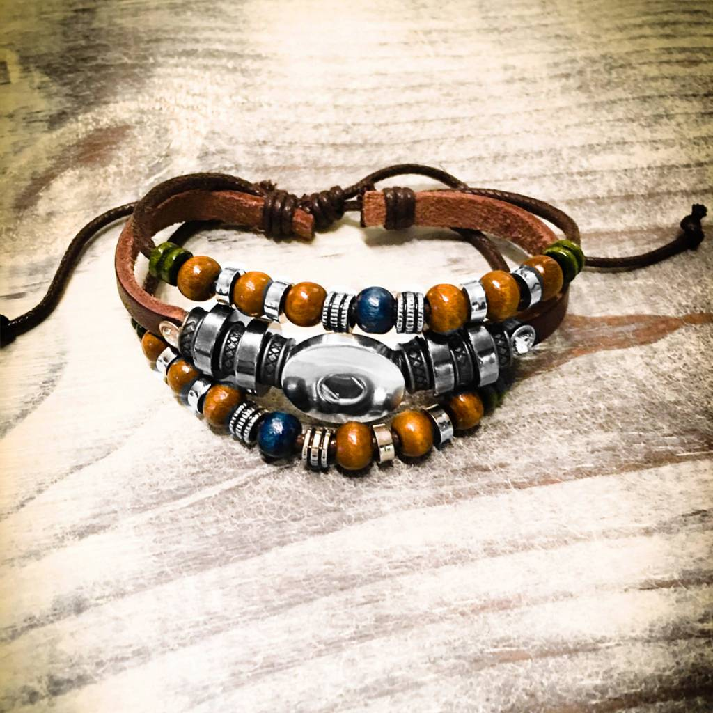 Bracelet | Brown | Bohemian Leather | 1 Snap