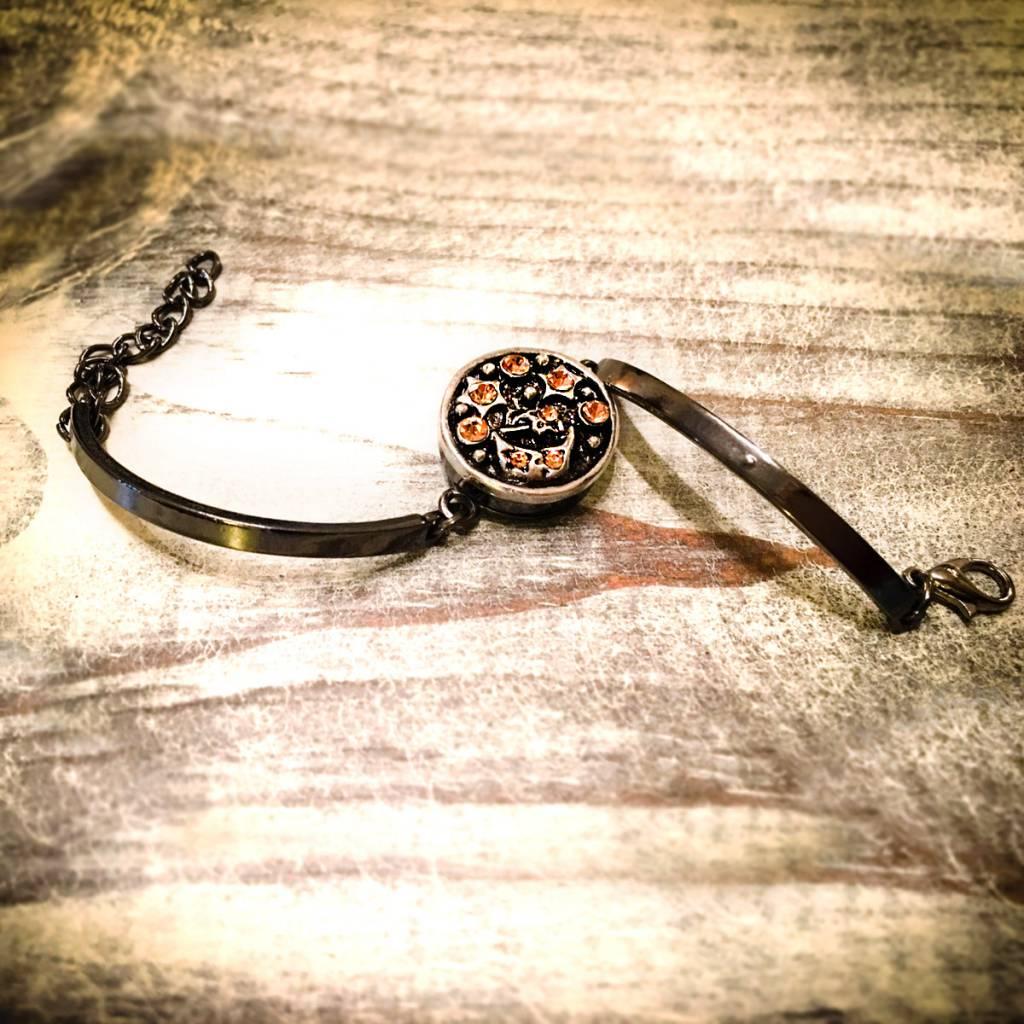 Bracelet | Black | Skinny and Thin | Rhinestone