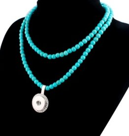 Necklace | Turquoise | Beaded | 1 Snap