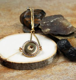 Bracelet   Gold   Rhinestone Chain Circle Crystals