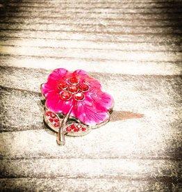 Snap Button Jewels™ | Pink | Big Rhinestones Center