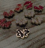 Snap Button Jewels™ | rhinestone | black | Butterfly Bling