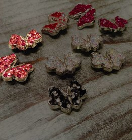 Snap Button Jewels™ | rhinestone | red | Butterfly Bling