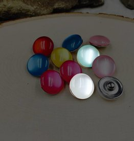 Snap Button Jewels™ | glass | white | Jelly Bean Snaps