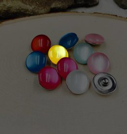 Snap Button Jewels™ | glass | yellow | Jelly Bean Snaps