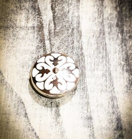 Snap Button Jewels™ | Fashion | White | Abstract Spade Design