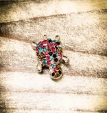 Snap Button Jewels™ | Animal | Multi Color | Rhinestone Turtle