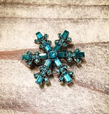 Snap Button Jewels™ | Blue | Rhinestone | Sparkle Snowflake