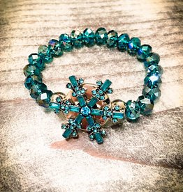 Bracelet | Blue | Bead Stretch | 1 Snap