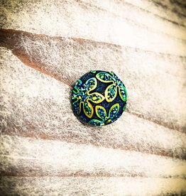 Snap Button Jewels™ | Fashion | Dark Blue | Green Daisy Imprint