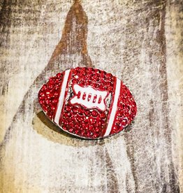 Snap Button Jewels™ | Rhinestone | Red | Bling Football