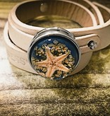 Snap Button Jewels™ | Fashion | Light Brown | 3D Starfish Ocean