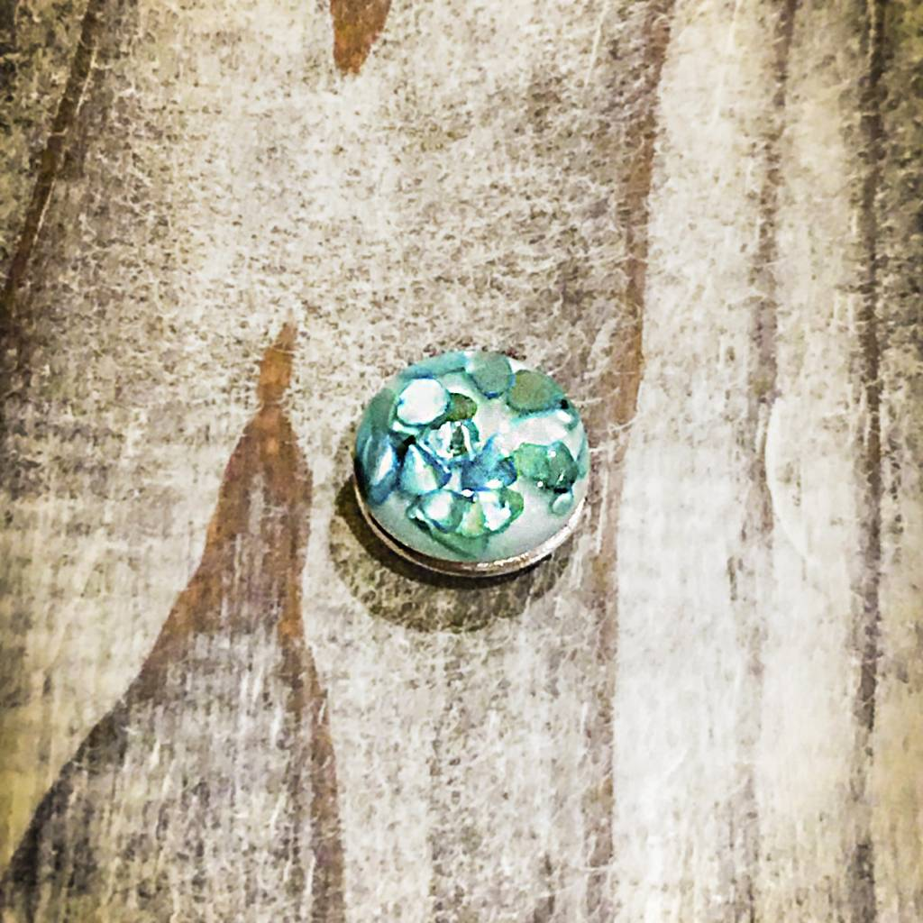 Snap Button Jewels™ | Fashion | Teal | Aqua Faux Stone