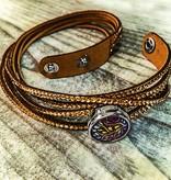 Bracelet | Gold | Bling Wrap Around | 1 Snap