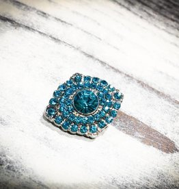 Snap Button Jewels™ | Rhinestone | Turquoise | Gems | Brooch Style