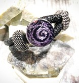 Snap Button Jewels™ | Fashion | Purple | Swirl Gem
