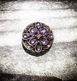 Snap Button Jewels™ | Rhinestone | Purple | Gems Flowers