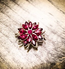 Snap Button Jewels™ | Rhinestone | Pink | Point Gem Flower