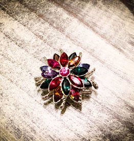 Snap Button Jewels™ | Rhinestones | Rainbow Pointed | Gem Flower