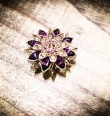 Snap Button Jewels™ | Rhinestone | Purple | Point Gem Flower