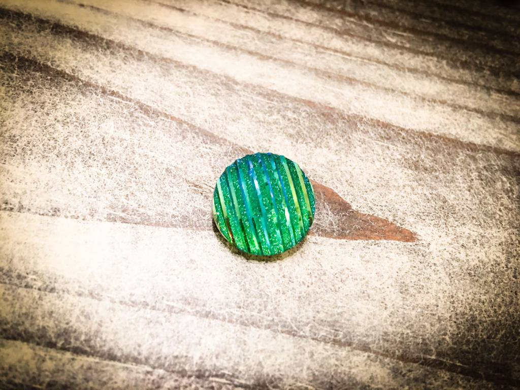 Snap Button Jewels™ | Fashion | Green | Sparkling Lines