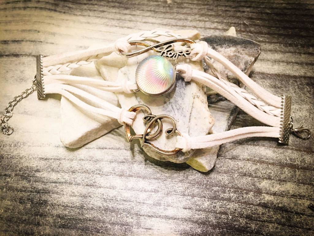 Snap Button Jewels™ | Fashion | Pearl | Iridescent Shell