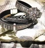 Snap Button Jewels™ | Rhinestones | Silver | Pointed Gem Flower