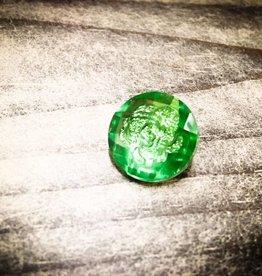 Snap Button Jewels™ | Green | Gem Flower Inlay