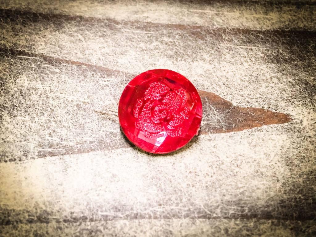Snap Button Jewels™ | Rhinestone | Pink | Gem Flower Inlay