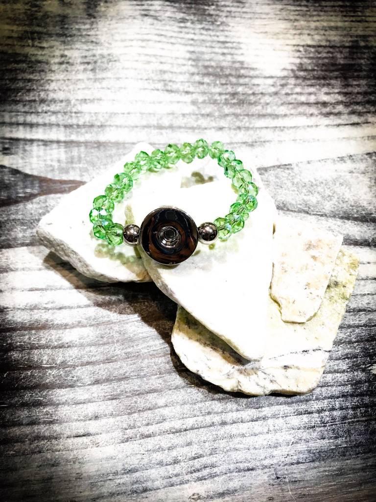 Bracelet | Green | Kids Beaded | 1 Snap