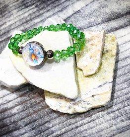 Bracelet   Green   Kids Beaded   1 Snap