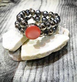 Bracelet | Silver | Beaded | 1 Snap