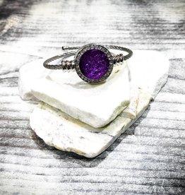 Bracelet | Silver | Diamond Detail | 1 Snap