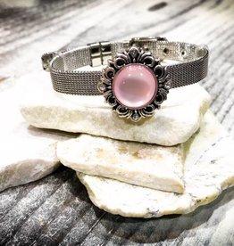 Bracelet | Silver | Thin Buckle | 1 Snap